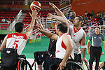 Mitsugu Chiwaki (JPN),<br /> SEPTEMBER 15, 2016 - Wheelchair Basketball : <br /> 9th place match between Japan 65-52 Iran<br /> at Rio Olympic Arena<br /> during the Rio 2016 Paralympic Games in Rio de Janeiro, Brazil.<br /> (Photo by Shingo Ito/AFLO)