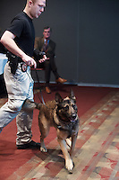 SEC Academic Leadership Development Program (SEC ALDP) Best Practices for Management of Classrooms and Campus Crisis Training - demonstration by campus police officer and dog<br />  (photo by Beth Wynn / &copy; Mississippi State University)