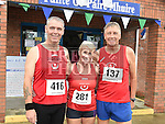 Jackser Reilly, Nuala Reilly and Conor Cooney who took part in the Seamie Weldon memorial run at St. Mary's GAA club Ardee. Photo:Colin Bell/pressphotos.ie