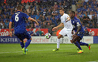 Pictured: Fernando Llorente of Swansea City (C) Saturday 27 August 2016<br /> Re: Swansea City FC v Leicester City FC Premier League game at the King Power Stadium, Leicester, England, UK
