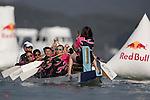 Participants of Red Bull Dragon Roar on 06 August 2016 at Sai Kung's Sha Ha Beach, in Hong Kong, China.  Photo by Marcio Machado / Power Sport Images