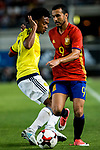 Pedro Rodriguez of Spain competes for the ball with Carlos Bacca of Colombia during the friendly match between Spain and Colombia at Nueva Condomina Stadium in Murcia, jun 07, 2017. Spain. (ALTERPHOTOS/Rodrigo Jimenez)