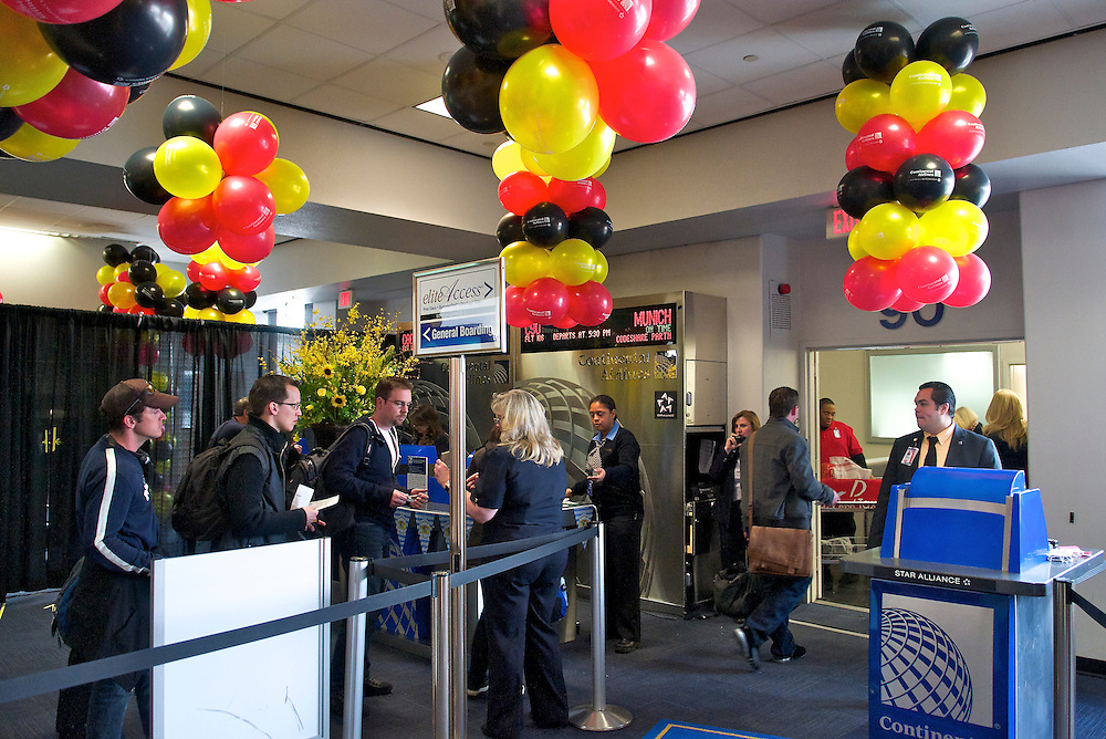 Munich Inaugural Event at Newark Airport for Continental Airlines