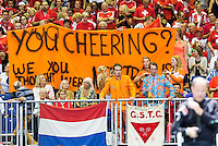 Switserland, Genève, September 18, 2015, Tennis,   Davis Cup, Switserland-Netherlands, Dutch supporters<br />