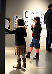 Visitors at the Biennale Internationale Design in Saint-Etienne, France on April 4, 2015.
