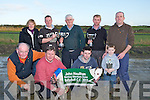 CUPS: Leigh musical winner of the John Houlihan & Leagh Stake for working members with her joint  owners  Patrick O'Connor & Brian O'Sullivan, Front l-r: John O'Connor (vet), Gerard O'Sullivan, Paul O'Sullivan and Adam Lynch. Back l-r: Bridie O'Sullivan, Brian O'Sullivan, Patrick O'Connor, Anthony Houlihan and Jer Lynch..........