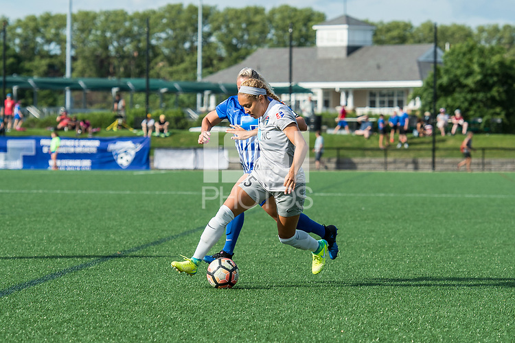 Boston, MA - Saturday June 24, 2017: Jaelene Hinkle during a regular season National Women's Soccer League (NWSL) match between the Boston Breakers and the North Carolina Courage at Jordan Field.