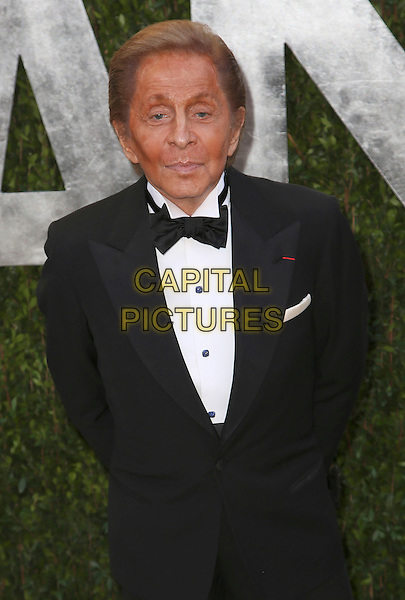 Valentino Garavani.2013 Vanity Fair Oscar Party following the 85th Academy Awards held at the Sunset Tower Hotel, West Hollywood, California, USA..February 24th, 2013.oscars half length black tuxedo white shirt bow tie tan tanned skin.CAP/ADM/SLP/DOW.©Dowling/StarlitePics/AdMedia/Capital Pictures