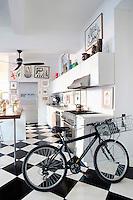 Bright open plan kitchen