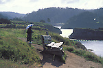 Walking on the Mendocino Headlands, Mendocino California