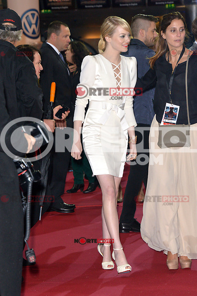 Emma Stone (wearing an Andrew Gn dress, Louboutin shoes) attending the Germany premiere of the movie The Amazing Spider-Man at CineStar Sony Center in Berlin. Berlin, 20.06.2012...Credit: Timm/face to face /MediaPunch Inc. ***Online Only for USA Weekly Print Magazines*** NORTEPOTO.COM<br /> **SOLO*VENTA*EN*MEXICO**<br /> **CREDITO*OBLIGATORIO** <br /> *No*Venta*A*Terceros*