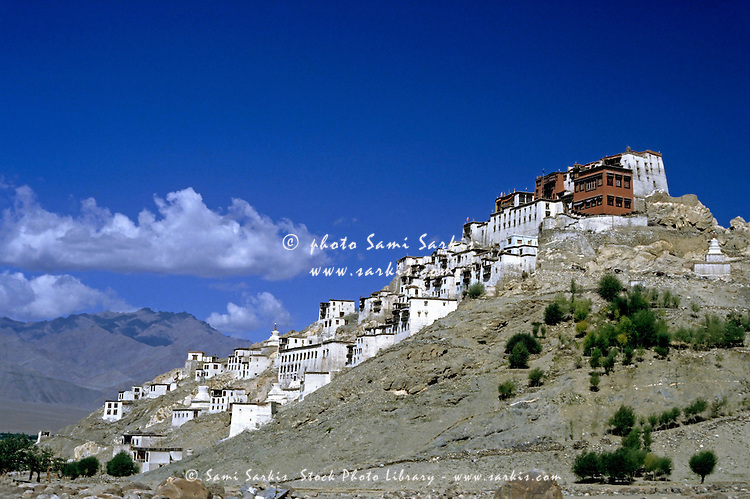 Thikse Monastery built into the hillside, Ladakh, India.