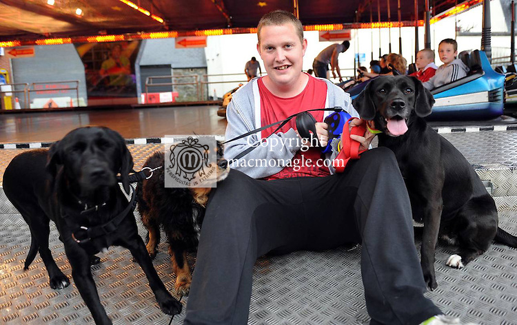 Cian Buckley with his dogs Harry, Kerry and Trosie at the Birds Bazaar Carnival Dog Show. Picture: Eamonn Keogh ( MacMonagle, Killarney)