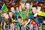 Children from The Roche & Burrows familys, Spa Road shouting for Kerry in The Kerins O'Rahilly's GAA Club......................................... ............   Copyright Kerry's Eye 2008