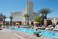 Breakfast at the Pool Cafe at the Mandarin Oriental. Las Vegas, Nevada, USA