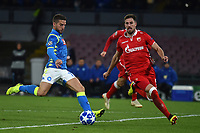 Dries Mertens of Napoli scores his side third goal during the Uefa Champions League 2018/2019 Group C football match betweenSSC Napoli and Crvena Zvezda at San Paolo stadium, Napoli, November, 28, 2018 <br /> Foto Andrea Staccioli / Insidefoto