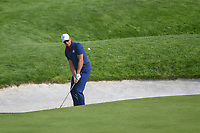 Henrik Stenson (Team Europe) chips on to 9 during Friday's foursomes of the 2018 Ryder Cup, Le Golf National, Guyancourt, France. 9/28/2018.<br /> Picture: Golffile | Ken Murray<br /> <br /> <br /> All photo usage must carry mandatory copyright credit (© Golffile | Ken Murray)