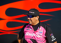 Oct 15, 2016; Ennis, TX, USA; NHRA funny car driver Cruz Pedregon during qualifying for the Fall Nationals at Texas Motorplex. Mandatory Credit: Mark J. Rebilas-USA TODAY Sports