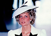 "Princess Diana tours the exhibit ""The Treasure Houses of Britain: 500 Years of Private Patronage and Art Collecting"" at the National Gallery of Art in Washington, DC on November 11, 1985.<br /> Credit: Peter Heimsath / Pool via CNP"
