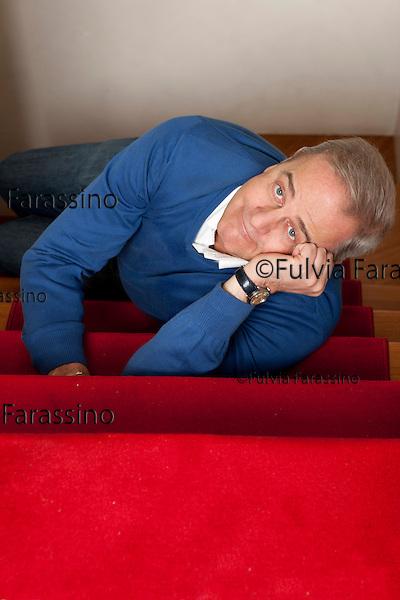 Milano, 13/01/2012, Enrico bertolino ritratto nel suo studio