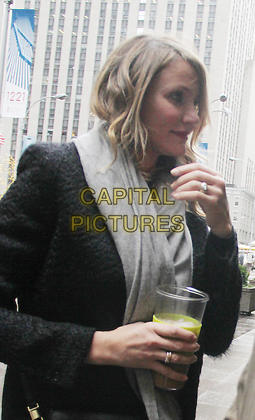 December 10, 2014: Cameron Diaz at SiriusXM to talk about her new movie Annie  in New York.  <br /> CAP/MPI/RW<br /> &copy;RW/ MediaPunch/Capital Pictures