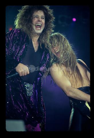 Zakk Wylde performs with Ozzy Osbourne in Chicago, Illinois. <br /> December 20, 1988<br />  &copy; Gene Ambo / MediaPunch **NO UK or Japan***