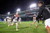 Picture by Allan McKenzie/SWpix.com - 09/03/2018 - Rugby League - Betfred Super League - Warrington Wolves v St Helens - Halliwell Jones Stadium, Warrington, England - GV of St Helens warming up, Adam Swift.