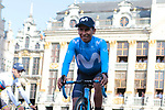 Nairo Quintana (COL) Movistar Team at the team presentation held on the Grand-Place before the 2019 Tour de France starting in Brussels, Belgium. 4th July 2019<br /> Picture: Colin Flockton | Cyclefile<br /> All photos usage must carry mandatory copyright credit (© Cyclefile | Colin Flockton)