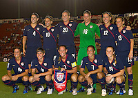 USWNT Starting Eleven. USWNT vs Costa Rica in the 2010 CONCACAF Women's World Cup Qualifying tournament held at Estadio Quintana Roo in Cancun, Mexico on November 1st, 2010.