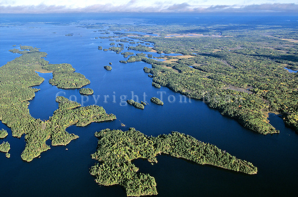 Aerial view of Rainy Lake at Dryweed Island, view looks eastward, Voyageurs National Park, Minnesota, AGPix_0540..