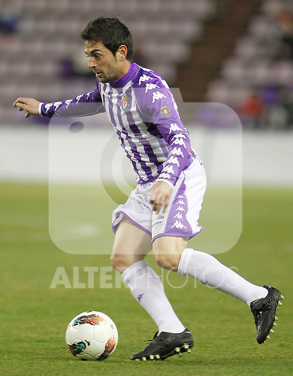 Real Valladolid's Jofre Mateu during Spanish 2th Division match.March 3,2012. (ALTERPHOTOS/Acero)