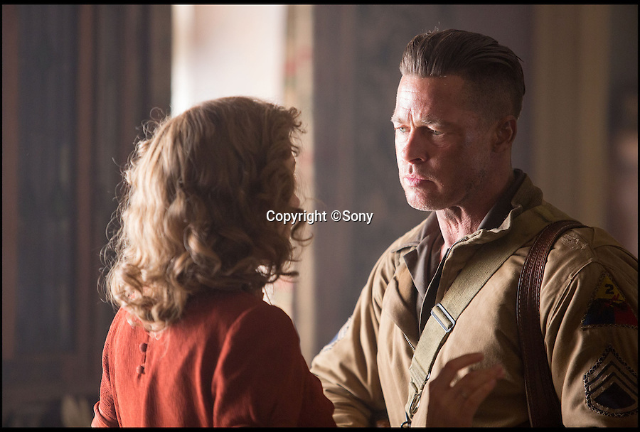 BNPS.co.uk (01202 558833)<br /> Pic: Sony/BNPS<br /> <br /> ***Please Use Full Byline***<br /> <br /> A still taken from the film Fury of War Daddy (Brad Pitt).<br /> <br /> Meet the real driving force behind Brad Pitt's new Second World War blockbuster, Fury.<br /> <br /> Tank mechanics Brian Frost, 39, and Ian 'Buzz' Aldridge, 53, were hired to drive the famous Sherman tank the movie is named after for most of the major scenes.<br /> <br /> The pair, who work at Bovington Tank Museum in Dorset, spent six months taking it in turns to operate the 26 ton tank in front of the cameras.<br /> <br /> Although the two never appear in the movie, every time 'Fury' is seen in motion and without actor Michael Pena in the driving seat,<br /> Brian or Buzz are at the controls.<br /> <br /> The pair also trained actor Pena the basics of driving the Sherrman tank to give the close-up shots of his character Corporal Trini 'Gordo' Garcia more legitimacy.<br /> <br /> The museum lent the movie's producers their M4 Sherman tank to act as Fury as well as the services of Brian and Buzz.