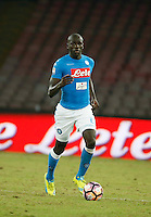 Kalidou Koulibaly  during the  italian serie a soccer match,between SSC Napoli and   Bologna FC    at  the San  Paolo   stadium in Naples  Italy , September 18, 2016