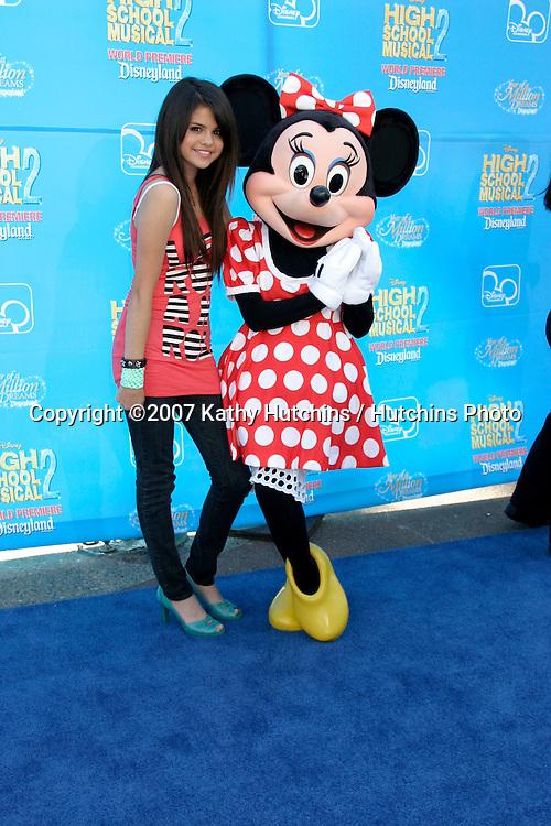 "Selena Gomez.""High School Musical 2"" Premiere.AMC Theaters - Downtown Disney.Anaheim, CA.Aug 14, 2007.©2007 Kathy Hutchins / Hutchins Photo...."