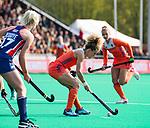 ROTTERDAM -  Maria Verschoor (Ned)   tijdens de Pro League hockeywedstrijd dames, Nederland-USA  (7-1) . links Xan de Waard (Ned)  COPYRIGHT  KOEN SUYK