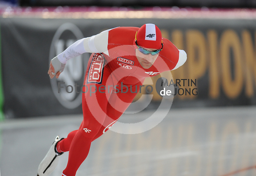 SPEED SKATING: HAMAR: Vikingskipet, 04-03-2017, ISU World Championship Allround, 5000m Men, Adrian Wielgat (POL), ©photo Martin de Jong