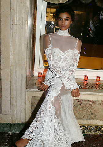 NEW YORK, NY - SEPTEMBER 9: Imaan Hammam at Harper's Bazaar's celebration of 'ICONS By Carine Roitfeld' at The Plaza Hotel on September 9, 2016 in New York City. Credit: Walik Goshorn/MediaPunch