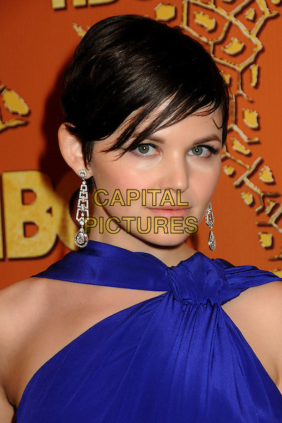 GINNIFER GOODWIN.HBO's 2010 67th Golden Globe Awards Post Party held at the Beverly Hilton Hotel, Beverly Hills, California, USA. .January 17th, 2009 .globes headshot portrait purple blue dangling silver earrings .CAP/ADM/BP.©Byron Purvis/Admedia/Capital Pictures
