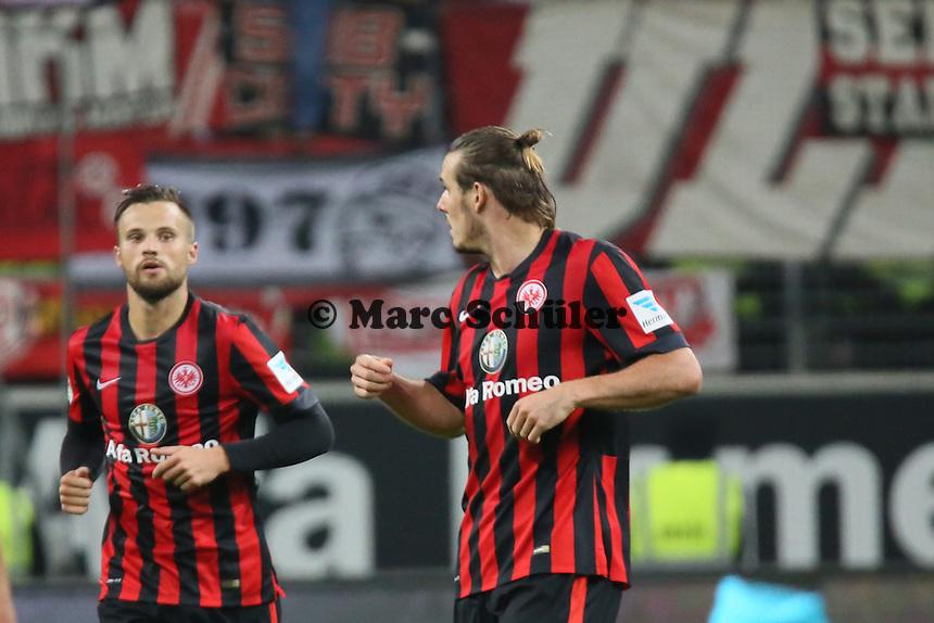 Torjubel Alex Meier (EIntracht) beim 1:2 - Eintracht Frankfurt vs. 1. FSV Mainz 05, Commerzbank Arena