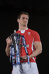 Sam Warburton (Wales) during the official launch of the RBS Six Nations rugby tournament at the Hurlingham Club in London..