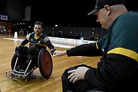Jake Howe (AUS)  vs Ireland<br /> Australian Wheelchair Rugby Team<br /> 2018 IWRF WheelChair Rugby <br /> World Championship / Day 4<br /> Sydney  NSW Australia<br /> Wednesday 8th August 2018<br /> © Sport the library / Jeff Crow / APC