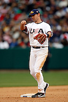 Michael Young of the USA during the World Baseball Championships at Angel Stadium in Anaheim,California on March 12, 2006. Photo by Larry Goren/Four Seam Images