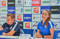 20200824 , GENT , BELGIUM : Gent's defender Silke Vanwynsberghe (21) pictured during a players presentation of K.A.A. Gent ladies before the 2020 - 2021 season of Belgian Women's SuperLeague , Monday 24 th of August 2020 in Gent , Belgium . PHOTO SPORTPIX.BE | STIJN AUDOOREN