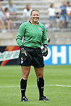 1 August 2004: Kristin Luckenbill before the game. The United States defeated China 3-1 at Rentschler Field in East Hartford, CT in an women's international friendly soccer game..