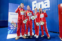 British Swimming GBR<br /> WALKER-HEBBORN Chris, PEATY Adam, O'CONNOR Siobhan Marie, HALSALL Fran<br /> Mixed 4X100 Medley Relay Gold Medal and World Record - Midea<br /> Swimming - Kazan Arena<br /> Day13 05/08/2015<br /> XVI FINA World Championships Aquatics Swimming<br /> Kazan Tatarstan RUS July 24 - Aug. 9 2015 <br /> Photo A.Masini/Deepbluemedia/Insidefoto