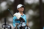 CHAPEL HILL, NC - OCTOBER 13: North Carolina's Cheni Xu (CHN) on the 10th tee. The first round of the Ruth's Chris Tar Heel Invitational Women's Golf Tournament was held on October 13, 2017, at the UNC Finley Golf Course in Chapel Hill, NC.