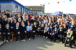 Pupils and parents listen to the speakers at the official opening of a new school extension at Scoil Bhride Dunleer. Photo:  Andy Spearman.