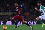 30.12.2015 Barcelona. La Liga , day 17. Picture show Neymar Jr. in action during game between FC Barcelona against Betis at Camp Nou