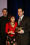 Executive producer of OLTL Frank Valentini receives the Linda Dano Heart Award and poses with Ron Carlivati, Robin Strasser at the HeartShare Human Services 2009 Spring Gala and Auction on March 24, 2009 at the New York Marriott Marquis, New York City, NY. (Photos by Sue Coflin/Max Photos)