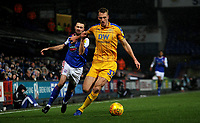 Wigan Athletic's Dan Burn battles with Ipswich Town's Gwion Edwards<br /> <br /> Photographer Hannah Fountain/CameraSport<br /> <br /> The EFL Sky Bet Championship - Ipswich Town v Wigan Athletic - Saturday 15th December 2018 - Portman Road - Ipswich<br /> <br /> World Copyright &copy; 2018 CameraSport. All rights reserved. 43 Linden Ave. Countesthorpe. Leicester. England. LE8 5PG - Tel: +44 (0) 116 277 4147 - admin@camerasport.com - www.camerasport.com